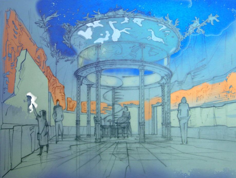 Эскиз концепции музея